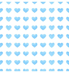Watercolor romantic seamless pattern with hearts vector
