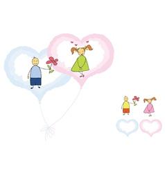 Valentines romance vector
