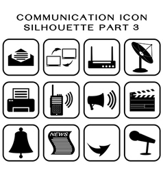 Communication icon part 3 vector