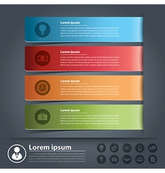 Banner business infographics vector