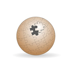 Spherical jigsaw vector