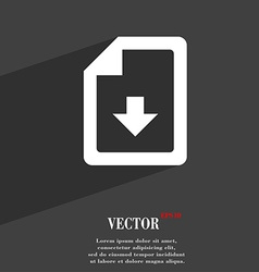 Import download file icon symbol flat modern web vector