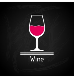 With glass of wine for menu cover vector