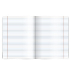 Exercise book vector