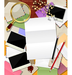Mail abstract collage vector