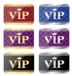 Vip gift cards vector