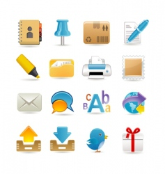 Post office set vector