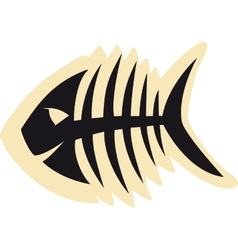 Good fish skeleton vector