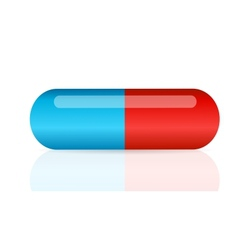 Pill icon vector