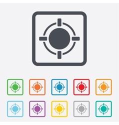 Crosshair sign icon target aim symbol vector