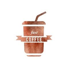 Fast coffee logo vector