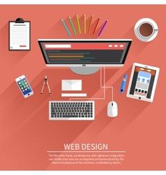 Web design program for design and architecture vector