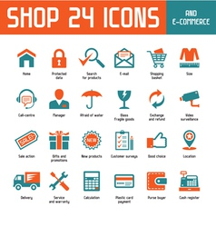 Shop 24 icons vector
