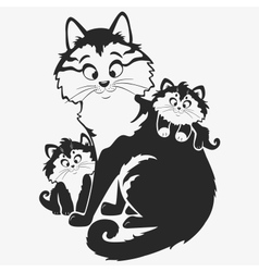 Cat family vector