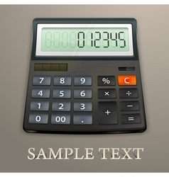 Calculator on brown vector