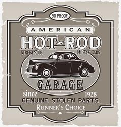 Hotrod runner garage vector