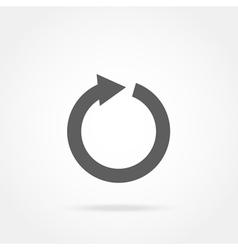 Arrow in a circle icon vector