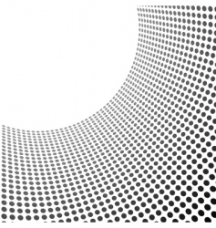 Curved circles pattern vector