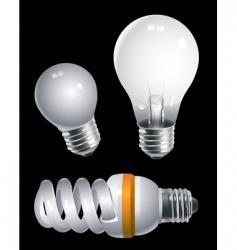 Electric bulbs vector