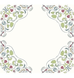 Ornament floral background vector