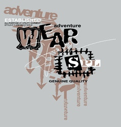 Art design by adventure wear models vector