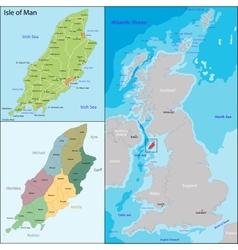 Isle of man vector