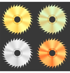 Circular saw discs vector