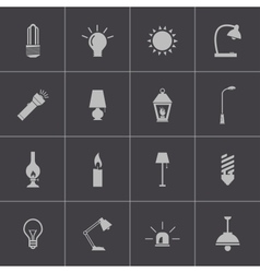 Black light icons set vector