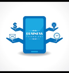 Business technology concept with mobile vector