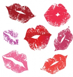 Print of lips kiss vector