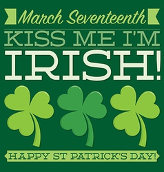 Typographic retro st patricks day card in format vector