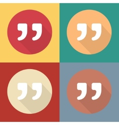 Quote icons isolated on colorful vector