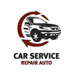 Car service logo template automotive repair theme vector
