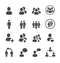 People icon set vector