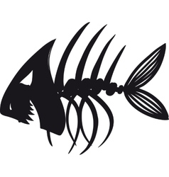 Evil fish skeleton vector