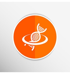 Dna icon life strand symbol curve graphic genetic vector