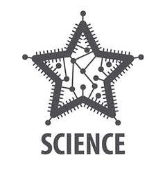 Logo in the form of a star chip vector