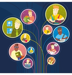 People use social network vector