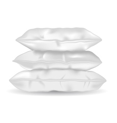 Soft pillows vector