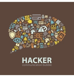 Hacker communication bubble vector