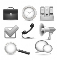 Icons for business web site vector