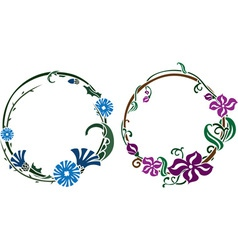 Two wreath in art nouveau style vector