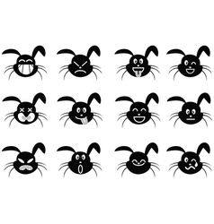 Cartoon rabbit face icon vector