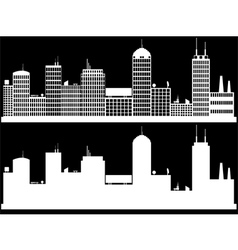 White cityscape vector