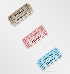Colorful vintage ticket vector