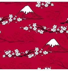Japanese flower pattern vector