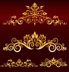 Metallic scrolls vector