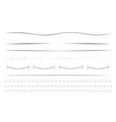 Horizontal dividers set vector