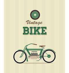 Vintage bike vector