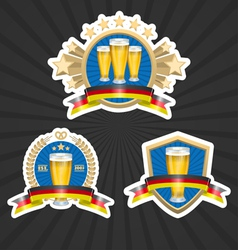 Octoberfest beer labels set vector